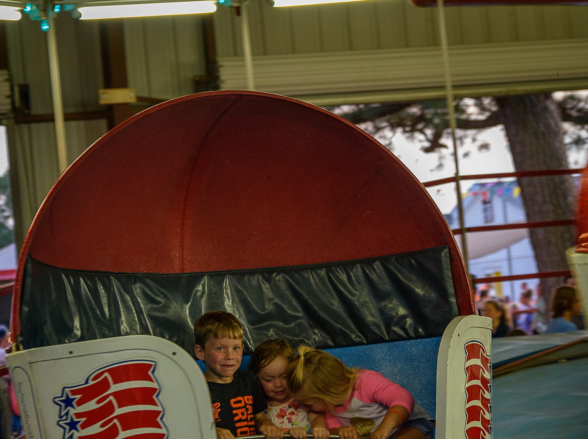 The Tilt-a-Whirl was one of the most popular attractions at the Chincoteague Fireman's Carnival.