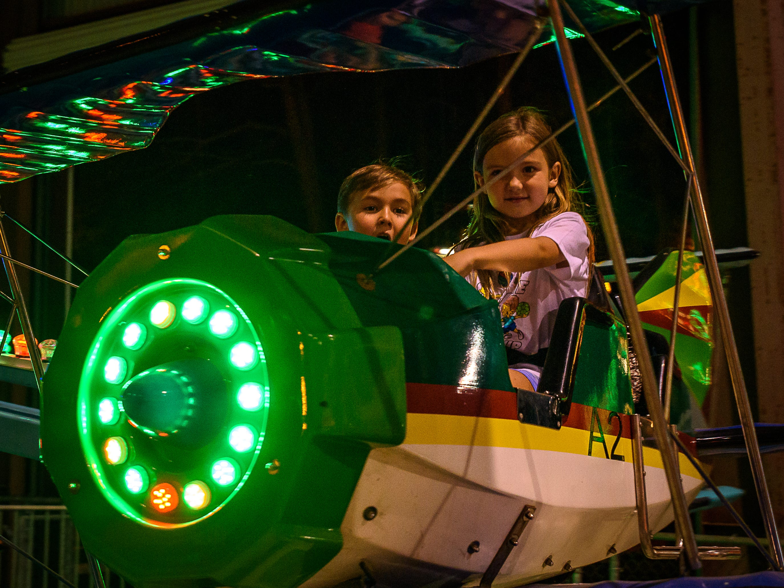 The Bi-Planes were popular with younger fair goers at the Chincoteague Fireman's Carnival.