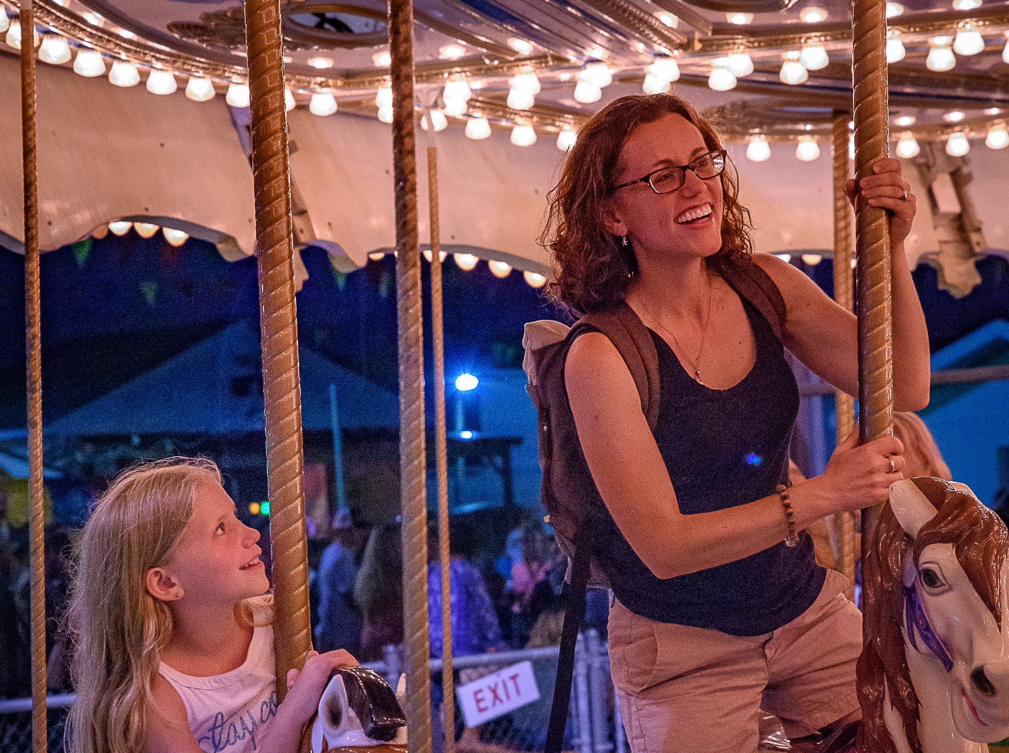 The carousel was popular with young and old alike at the Chincoteague Fireman's Carnival.