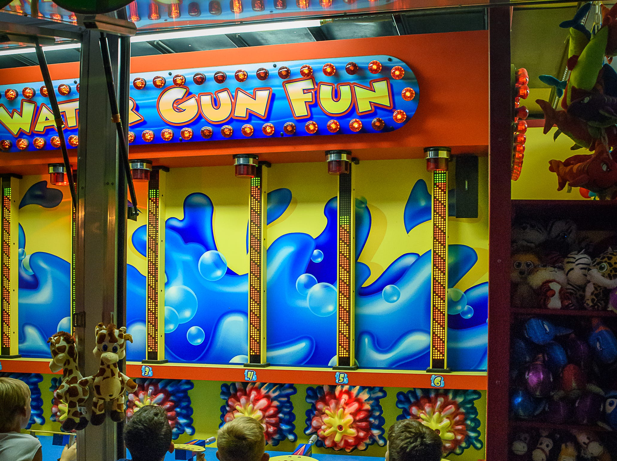 The water gun game was a popular game at the Chincoteague Fireman's Carnival.