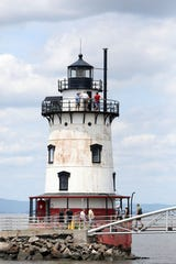 Visitors tour the Sleepy Hollow Lighthouse during an open house July 29, 2018 at Kingsland Point Park in Sleepy Hollow. The lighthouse is open from 1-3 p.m. every other Sunday in the spring and summer seasons.
