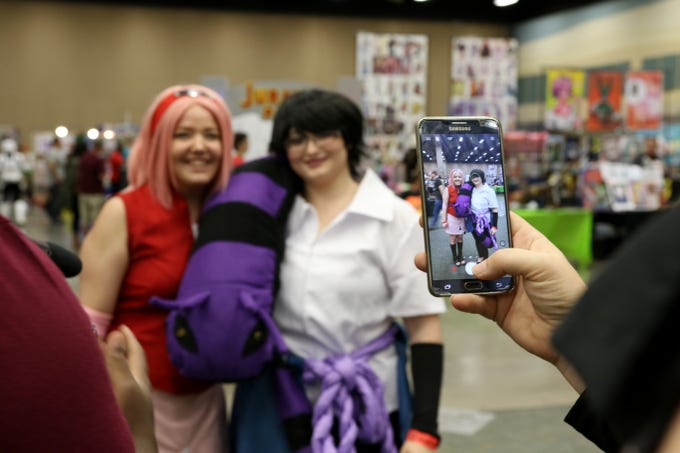 Many people in attendance cosplayed as charactors from shows they liked at Animania Saturday, July 28, 2018, in the MPEC Ray Clymer Exhibit Hall.