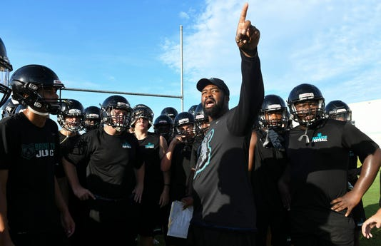 High School Football Bayside High Practice