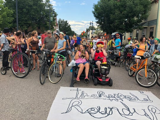 Old North End residents gather for a community bike ride as part of their neighborhood celebration The Ramble on Saturday, July 28, 2018, in Burlington.