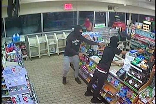 Police seek the public's help to identify these suspects in a robbery that occurred at a 7-Eleven store in Edgewater Park.