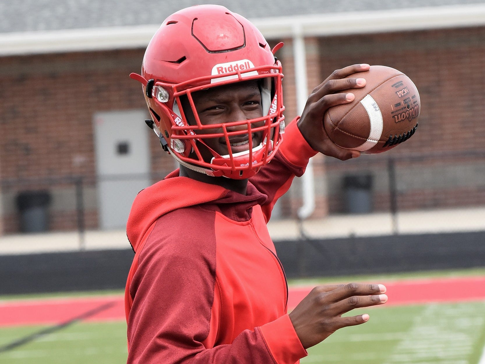 Fairfield Quarterback Jeff Tyus looks to the 2018 season with anticipation of a GMC title, July 30, 2018.
