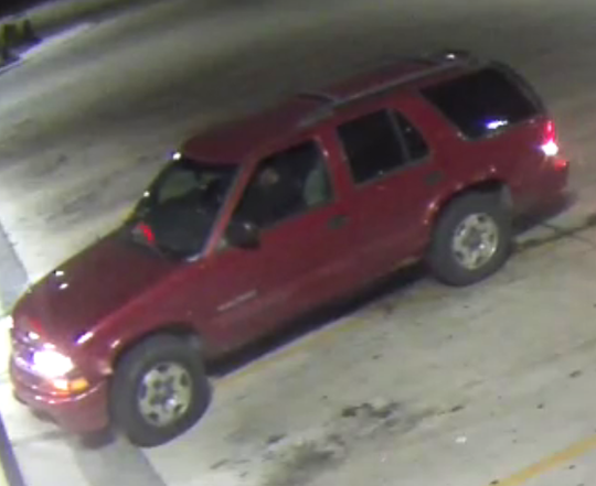The suspect fled westbound on Army Post Road in an SUV after assaulting a convenience store employee.