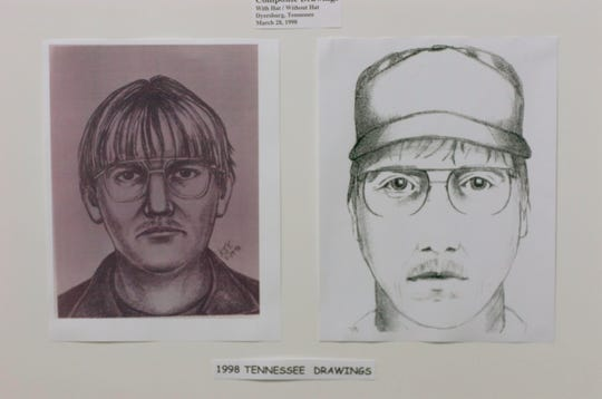 A composite of the possible Zitricki murder suspect  during a press conference at the Greenville County LEC in 2006.  Missouri police have linked a suspect in a murder in their state with the Zitricki murder case in Greenville.