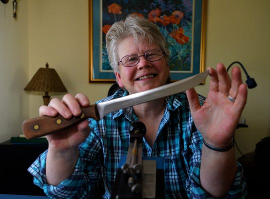 According to knife-sharpener Sonja Bragstad, a knife used in the home can hold its edge anywhere from a month to a year depending on the knife and how often it's used.