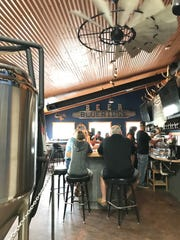 Blue Ridge Brewing in Malta has a windmill re-purposed as a fan. Owners Bryan and Brianna Shores got a boost from owners of Busted Knuckle in Glasgow and Triple Dog Brewing in Havre.