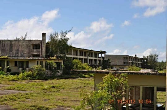 This photo provided by Air Force veteran Robert Fink shows the now abandoned Marbo barracks where he said he sprayed a weed killer which he was told was a mixture of Agent Orange, hydraulic fluid, diesel fuel and other waste fluids. He said the herbicide he sprayed had a very bad odor and had strong diesel fuel smell.