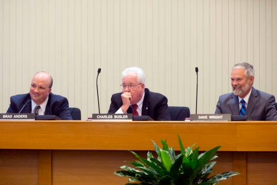 Knox County Commissioners retain 6th District Commissioner Brad Anders, left, as chairman and elect 8th District commissioner Dave Wright, right, to vice chair on Sept. 8.