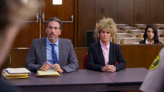 "An episode of CBS show ""Pink Collar Crimes"" will profile former Knoxville financial adviser Jacqueline Stanfill, who stole more than $8 million from her clients and was sentenced to nine years in prison in 2016. This image shows a reenactment from the episode featuring an actor and actresses."
