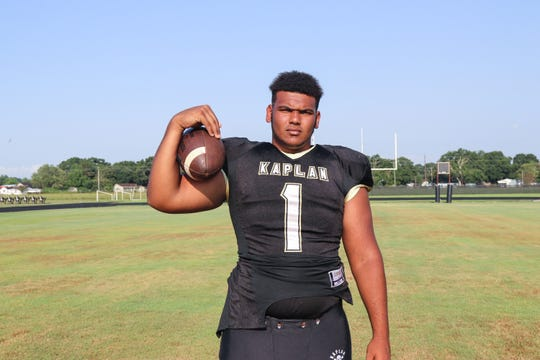 Kaplan senior defensive end Quintlan Cobb, an All-State honorable mention in 2017, contributes to the Pirates in various ways.