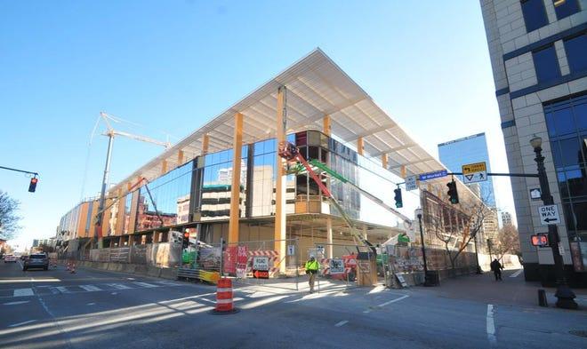 Construction of the Kentucky International Convention Center.