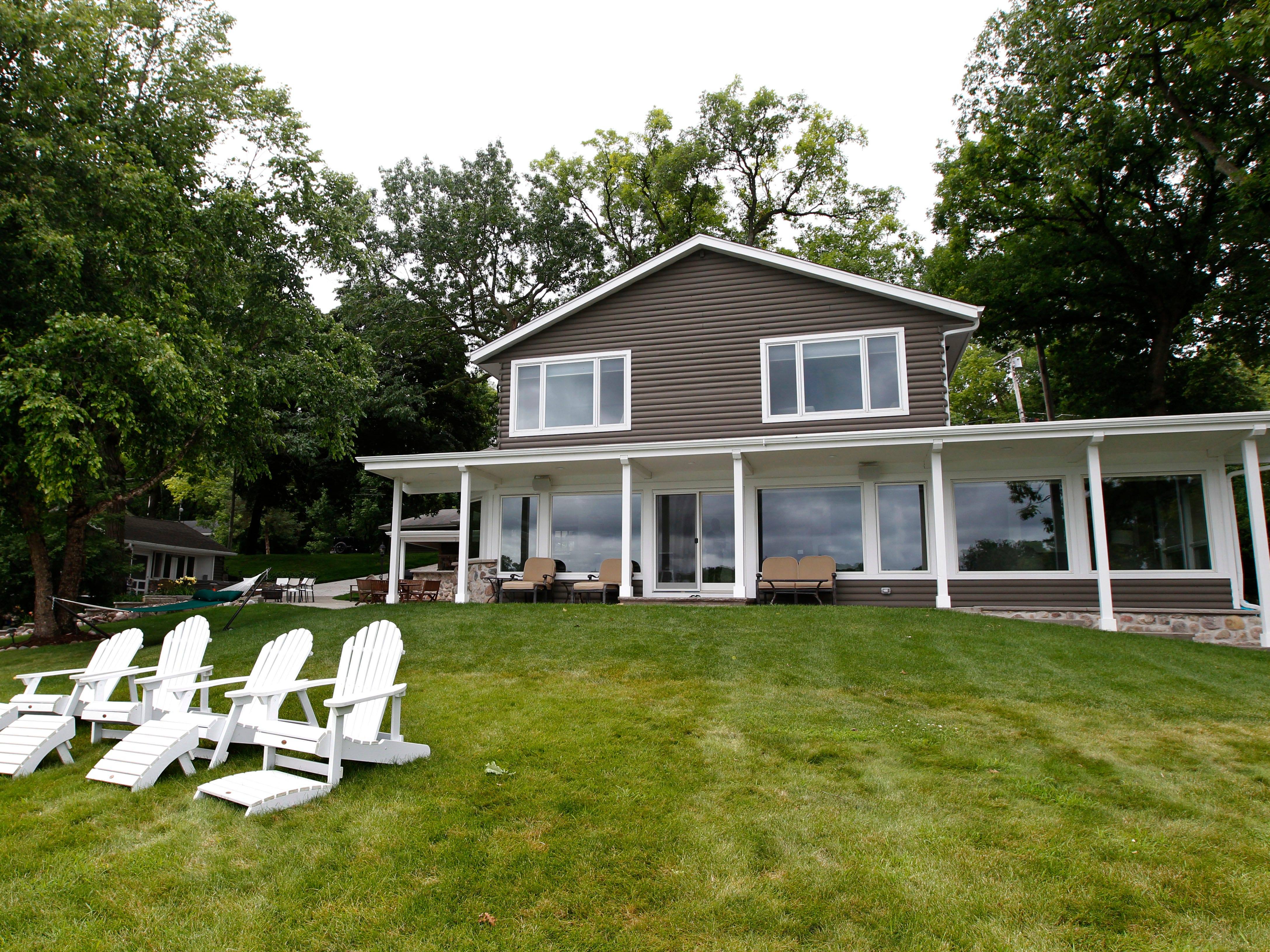 The two-story home has 2,000 square feet with three bedrooms and two bathrooms. The renovation were done in 2016.