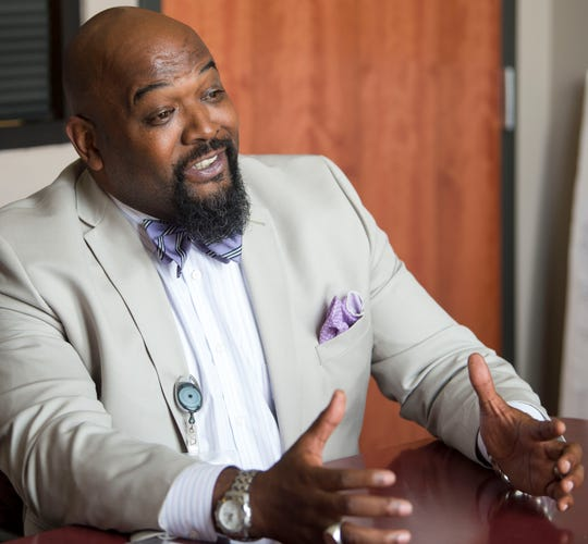 Montgomery Public Schools chief administrative officer Terry Roller talks about the future of the school system Monday, July 30, 2018,  in Montgomery, Ala.