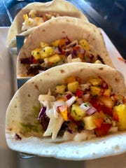 A trio of grouper tacos from Fit & Fuel Bicycle Cafe in North Naples.