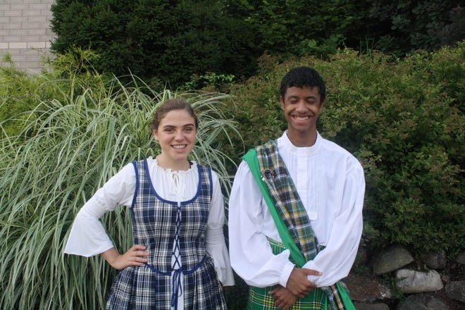 """Fiona (played byAnna Kozan) andArchie (Marc Chisholm) are two of the residents of a magical Scottish village in """"Brigadoon."""" The Lerner-Loewe musical will be staged by Faith Center for the Arts at Jefferson Township High School for two performances on Sunday,"""