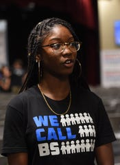 "Aaliyah Eastmond, 17, a senior at Marjory Stoneman Douglas High School talks on Monday, June 20, 2018, about her experience the day of the Parkland shooting and what the students hope to accomplish with their ""Road to Change"" tour throughout the state."