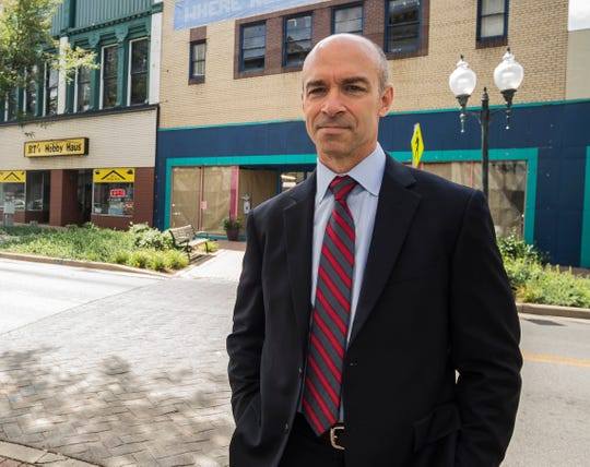 FBI Indianapolis Special Agent in Charge Grant Mendenhall poses for a photo along East Main Street in downtown Richmond on July 27, 2018.