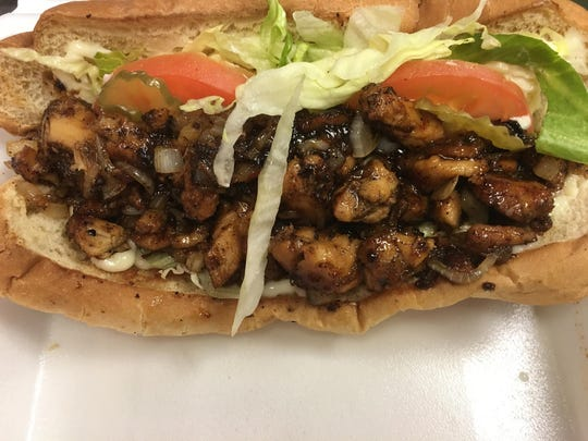 The Bourbon St. chicken po'boy at SugarLou's Southern Creole Cuisine