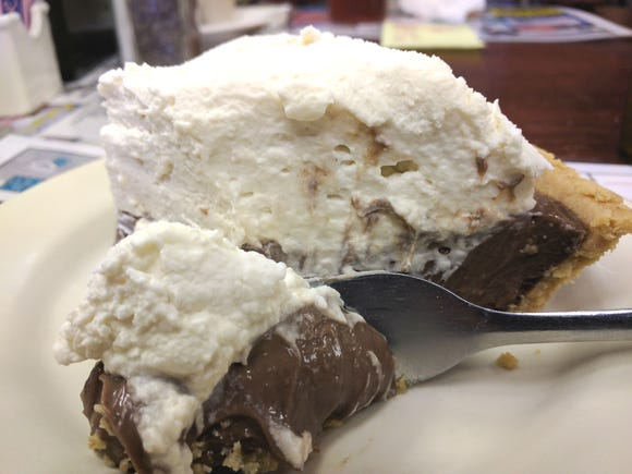 Creamy chocolate pie is shown in this file photo.
