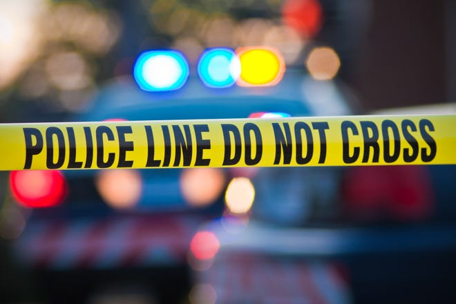 Stock image of police tape.