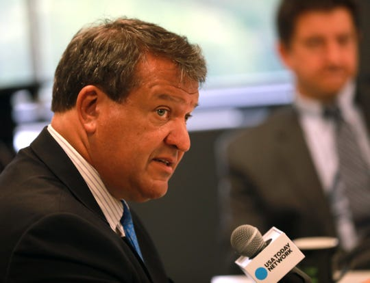 Westchester County Executive George Latimer speaks with the lohud editorial board at its office in White Plains on July 30, 2018.