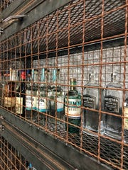 "The liquor ""cage"" at DonJito in Mamaroneck. Photographed July 26, 2018"