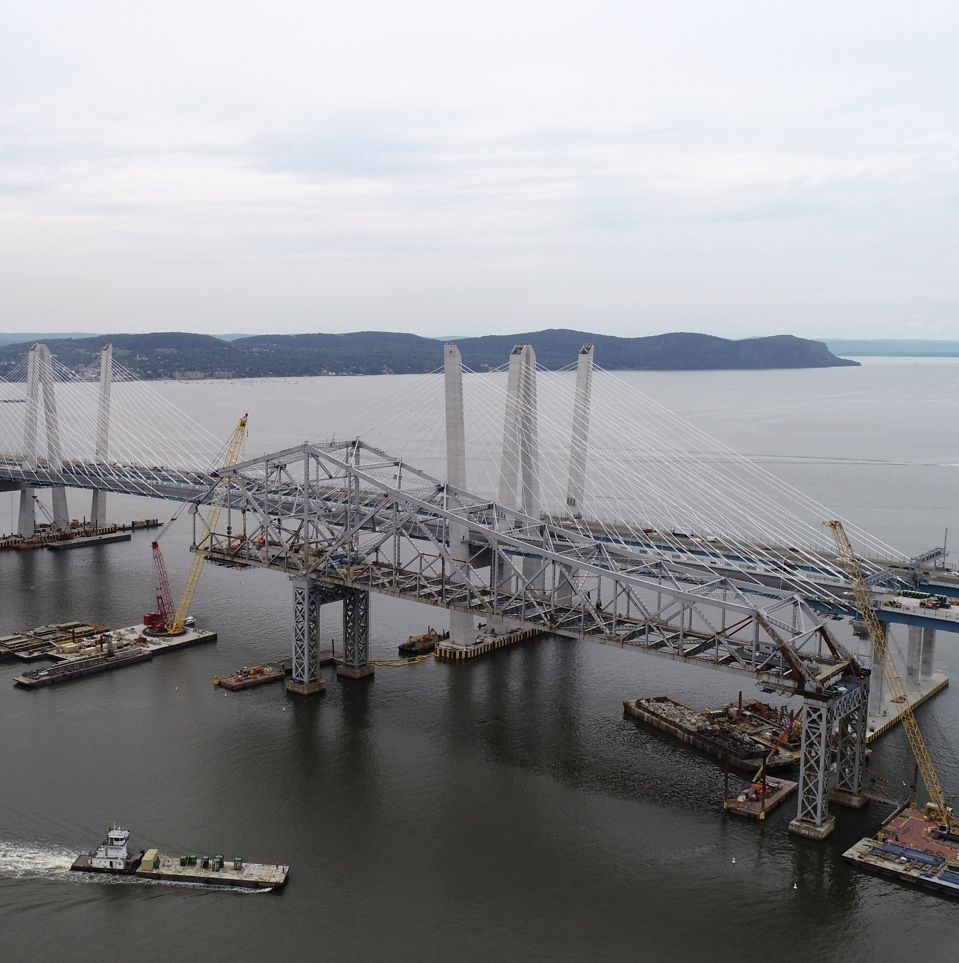 Watch from the air: The Tappan Zee being taken apart
