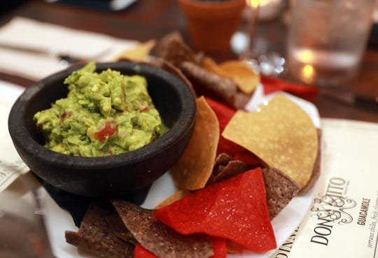 Guacamole with chips is served during dinner with Jeanne at DonJito in Mamaroneck July 26, 2018.