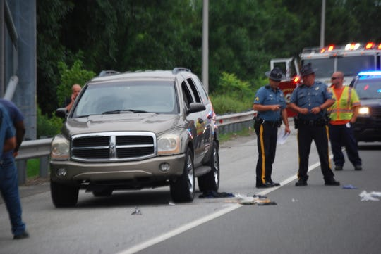 Police investigate a reported shooting on I-95 at Airport Road that they said began with a driving altercation.