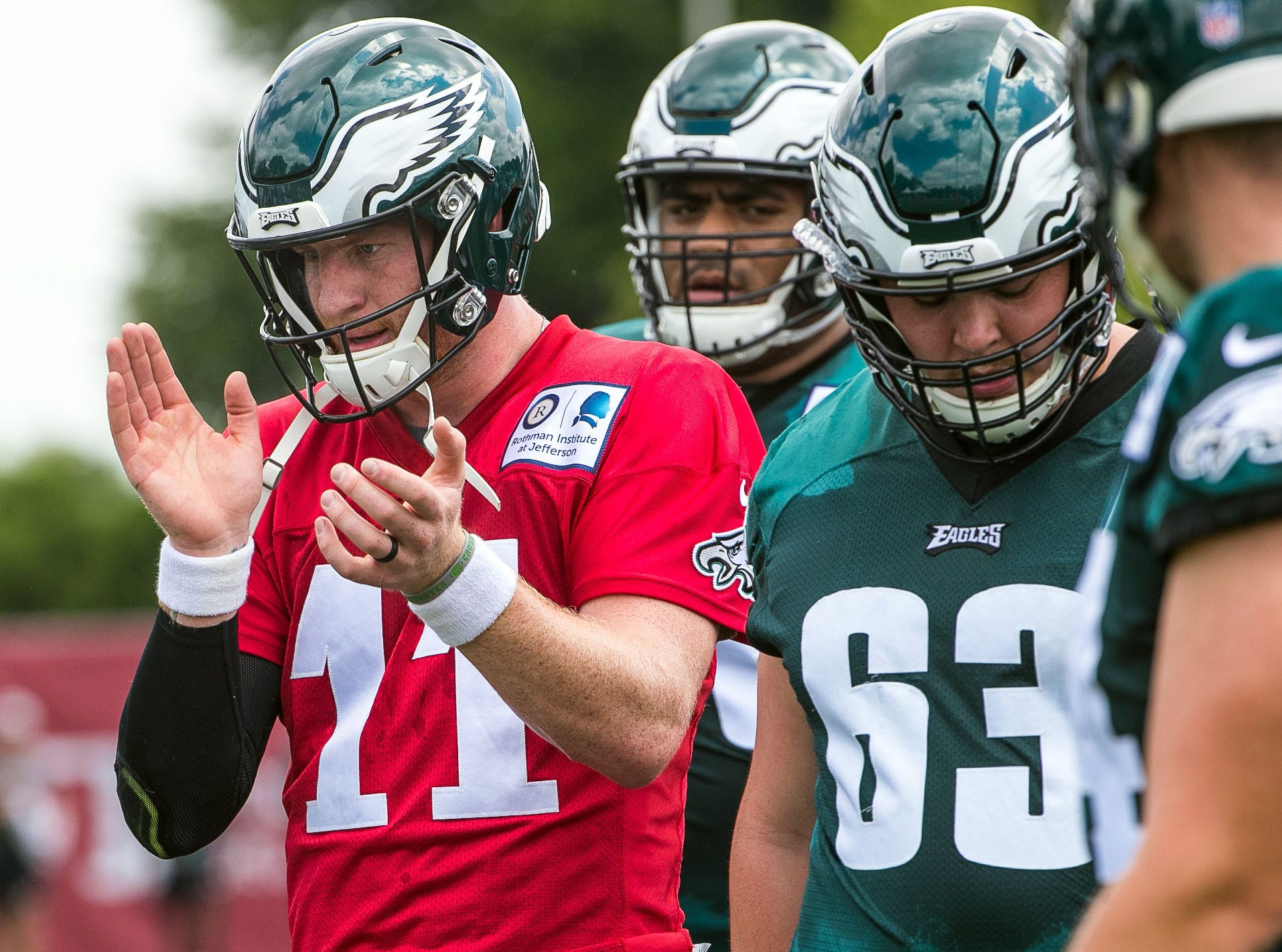 1. Eagles (1): On paper (games evidently aren't played there), lineup looks stronger than Super Bowl version, assuming Carson Wentz and Jason Peters are full go by Week 1 and Michael Bennett and Haloti Ngata fully assimilate.