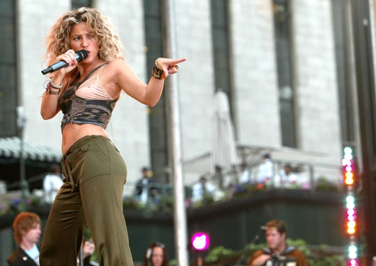 Shakira performs on the Good Morning America Summer Concert Series at Bryant Park on June 3, 2005.