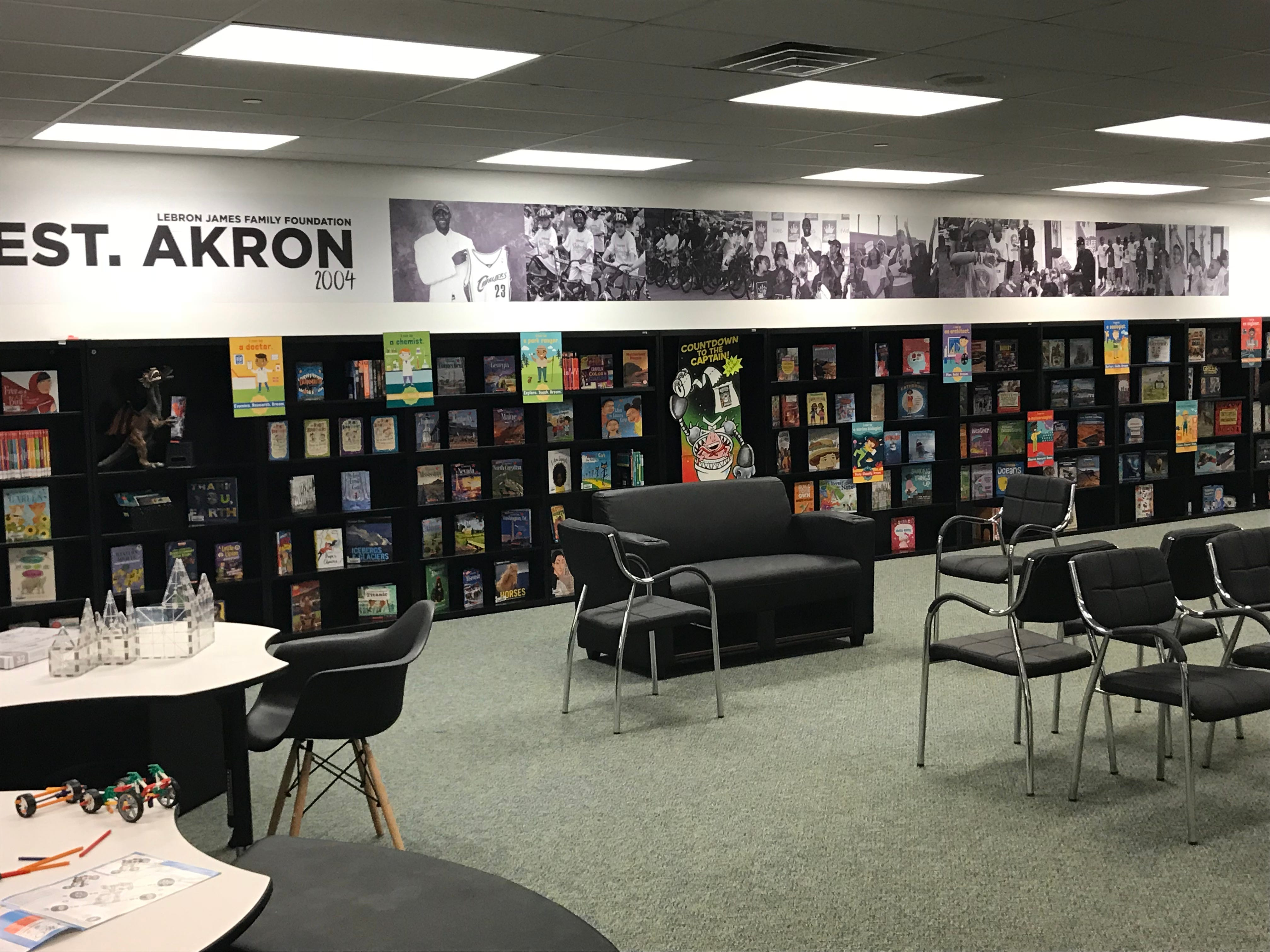 A library at the I Promise School.