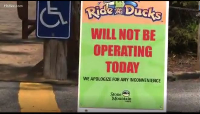 Ride the Ducks land-water tours at Stone Mountain Park, about 15 miles northeast of Atlanta, shut down its attraction after a duck boat in Branson, Missouri, sunk July 19, 2018, during a severe thunderstorm. Ten days later after assessing its vehicles and safety standards, the tours reopened.