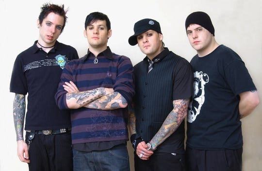 Members of the music group Good Charlotte, from left, Billy Martin, Joel Madden, Benji Madden and Paul Thomas in 2004.