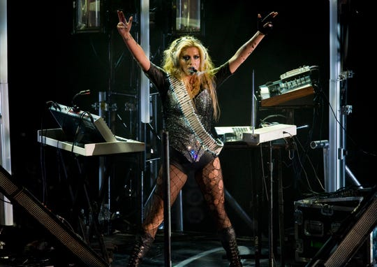 Kesha performs at the National Auditorium in Mexico City, on August 25, 2011.