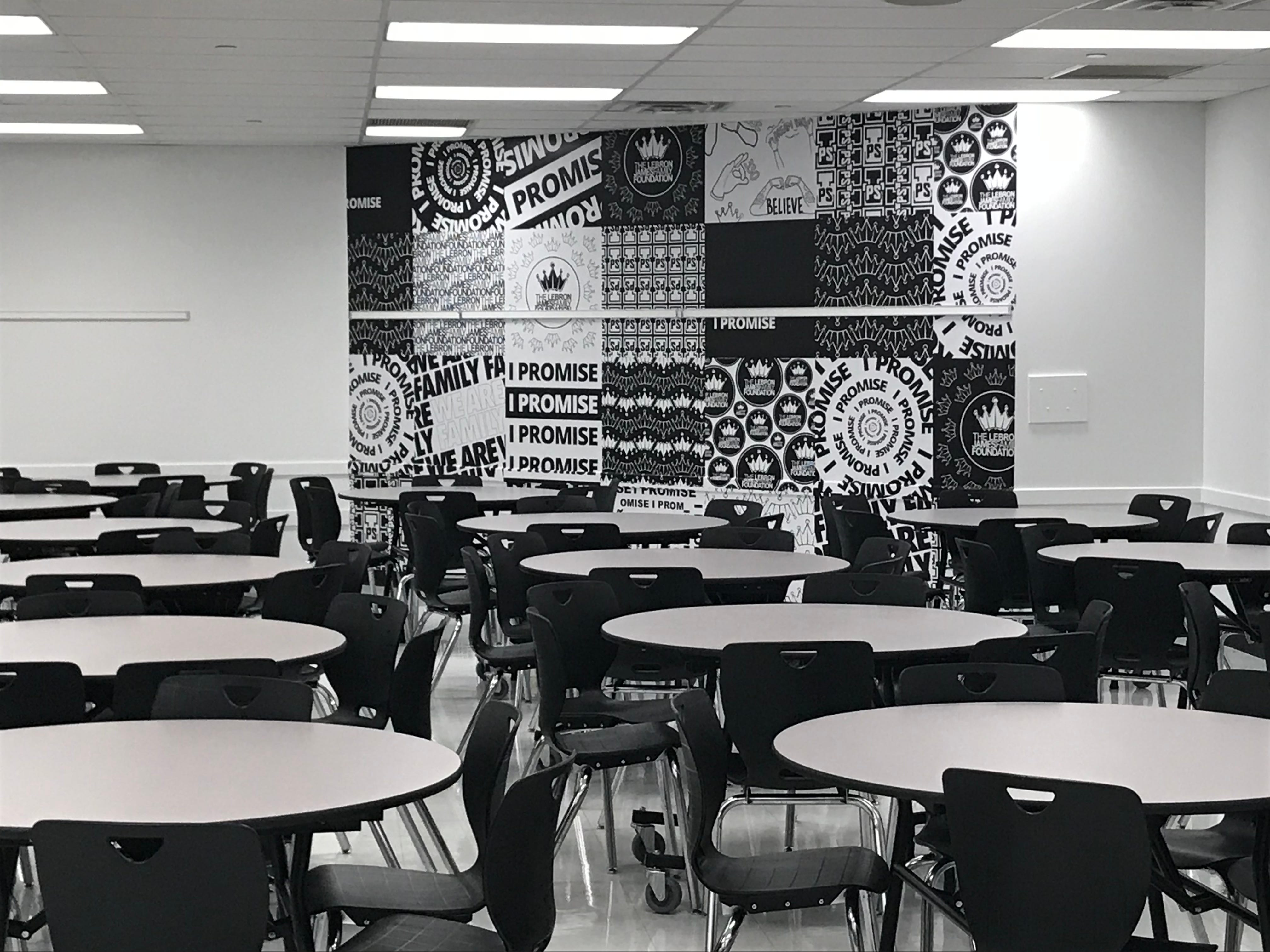 A classroom at the I Promise School.