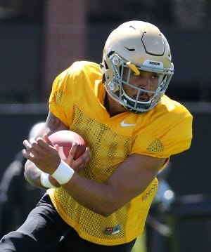 Abilene High graduate Abram Smith returned to to football activities this spring for the Baylor Bears after tearing his ACL during his freshman season.