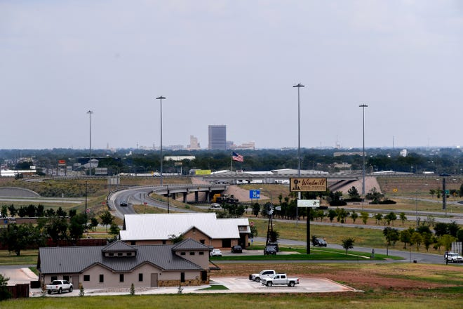 The view toward downtown Abilene from the roof of Abilene Regional Medical Center. Since West Texas Medical Center relocated to U.S. Highway 83/84 and became Humana Hospital in 1984, much development has taken place around the hospital now named Abilene Regional Medical Center.