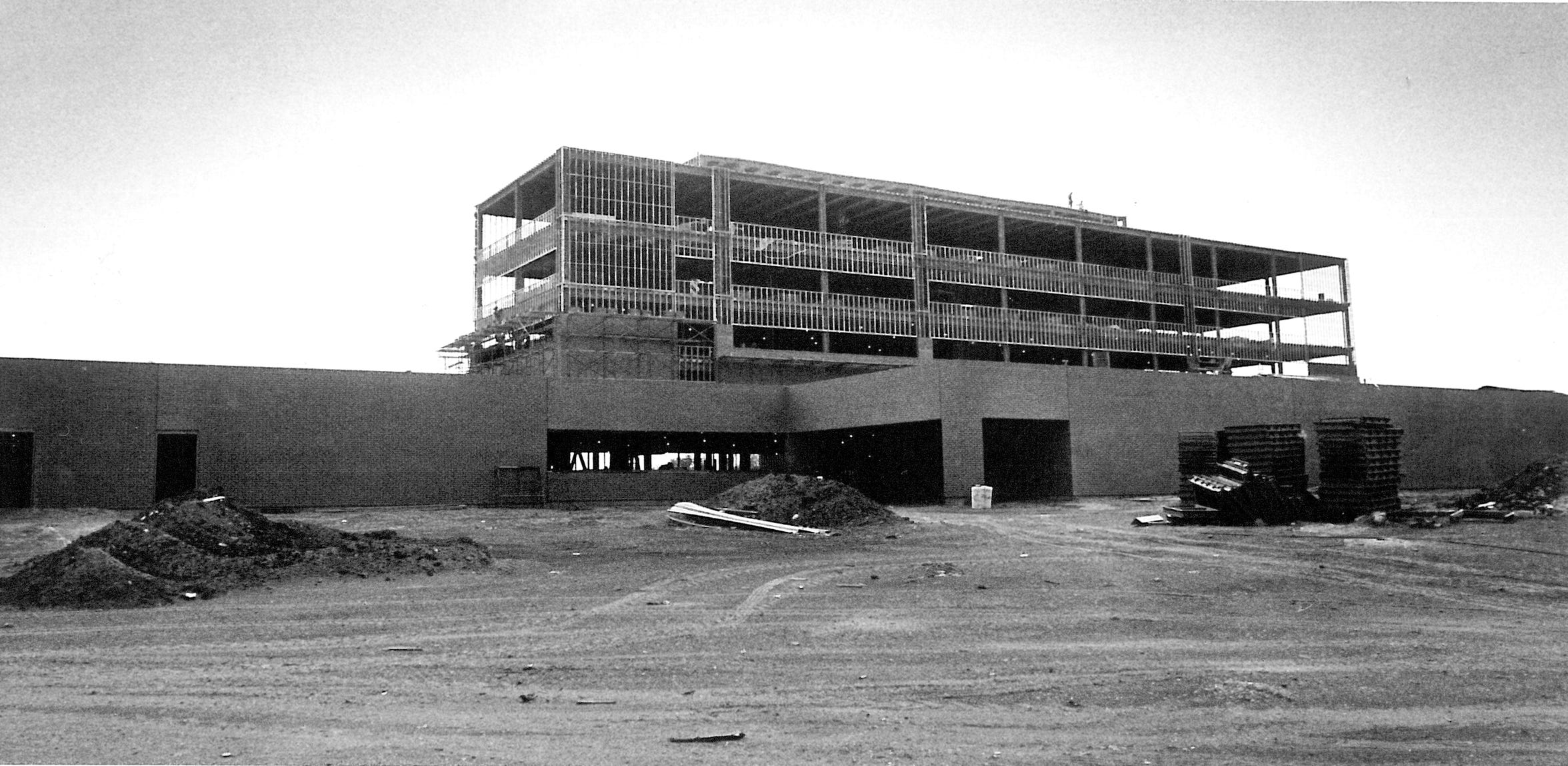 Humana Hospital at Antilley Road and U.S. Highway 83/84 under construction in October 1983. The facility was the precursor to Abilene Regional Medical Center.