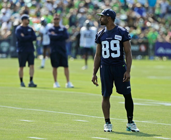 Seahawks wide receiver Doug Baldwin will miss the next couple weeks of training camp after suffering an unspecified knee injury.