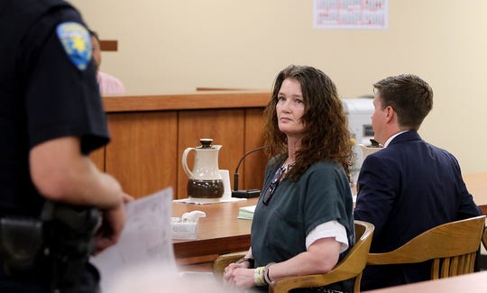 Amber James appears before Kitsap Superior Court Judge Melissa A. Hemstreet in Port Orchard on Monday, July 30, 2018.