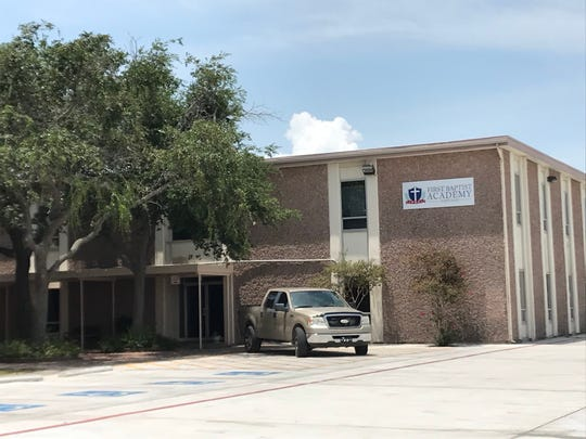 School officials from First Baptist Academy in Portland, Texas, said the school was on lockdown Tuesday, July 31, 2018. Police informed staff that an armed suspect was in the area.