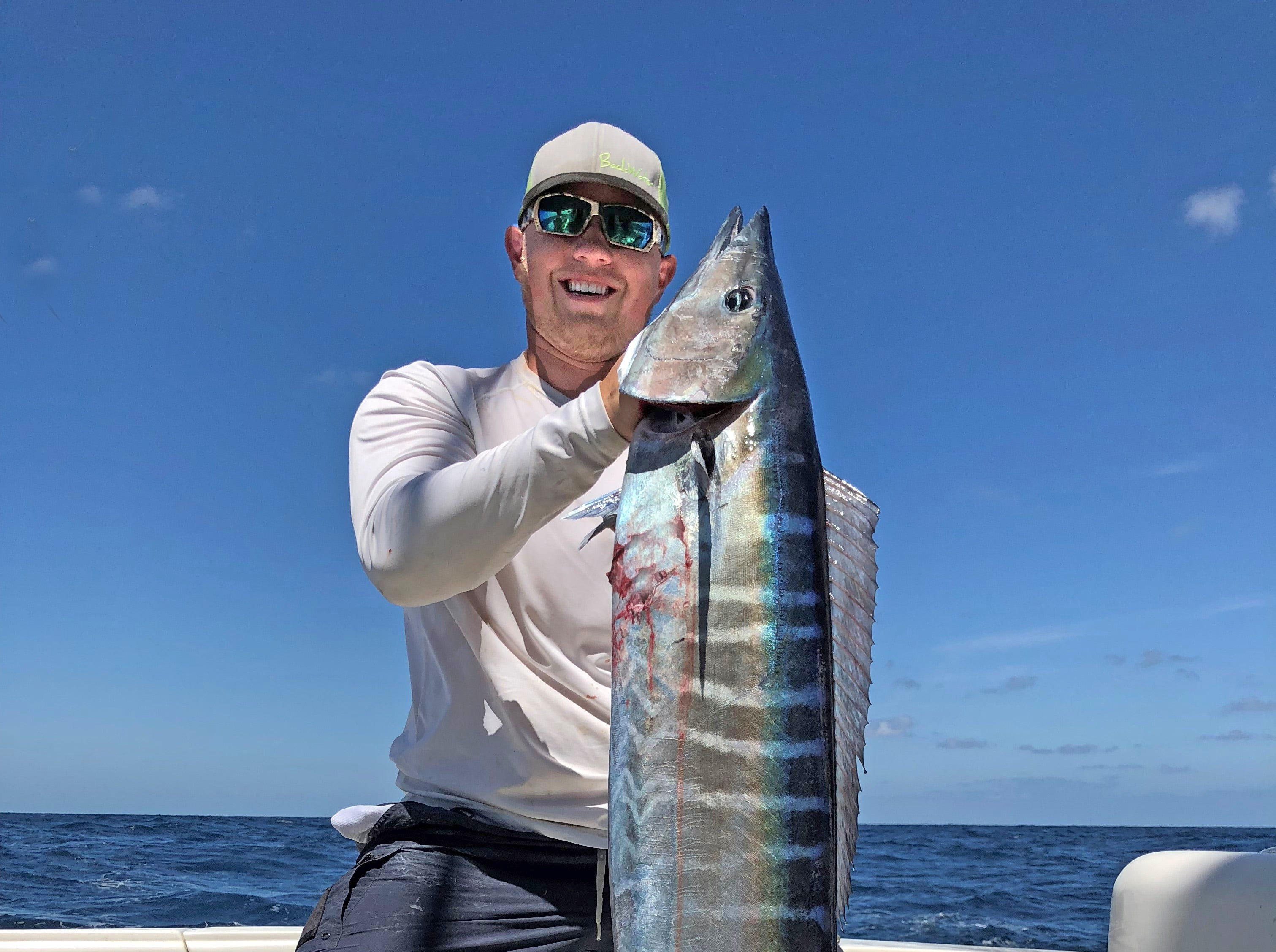 Caleb Winslow caught this 64-pound wahoo while fishing offshore out of Port Aransas.