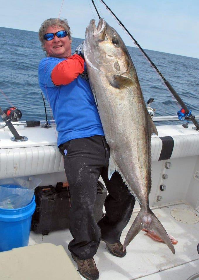 Chris Sessions caught this big amberjack while fishing offshore in the Gulf.