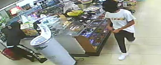 Police seek the public's help to identify and arrest these two suspects in an attempted robbery that occurred Sunday at a 7-Eleven store in Delran.