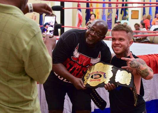 Wrestling Stars Put On Show For Veterans